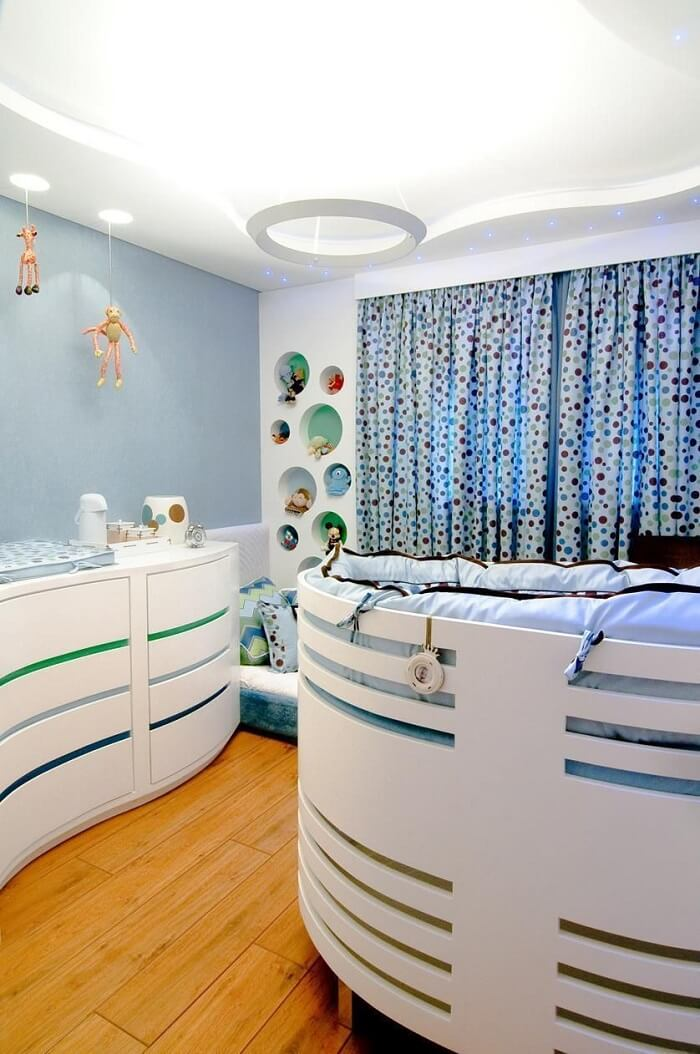 Baby room with niches
